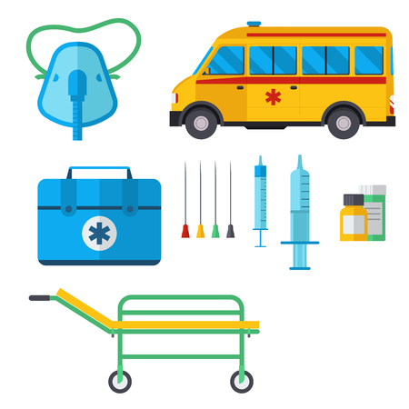 Ambulance medicine health emergency car vector hospital urgent pharmacy medical support paramedic treatment illustration
