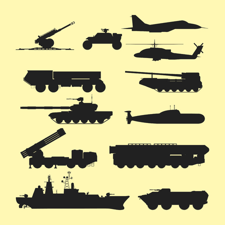 Military army transport technic vector war tanks industry technic armor system armored army personnel camouflage carriers weapon illustration. Illustration