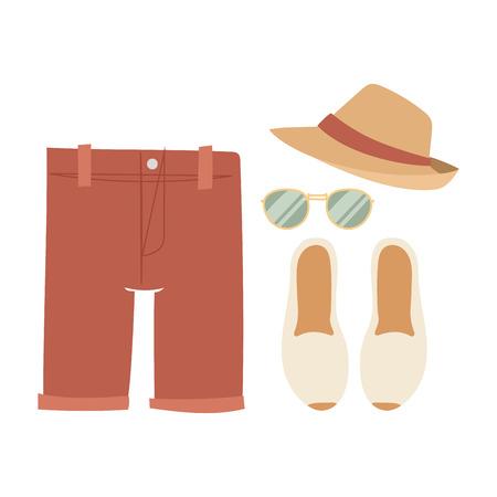 Beachwear bikini vector cloth fashion looks beach sea vacation lifestyle women collection sea light beauty fashioned clothes illustration. 向量圖像