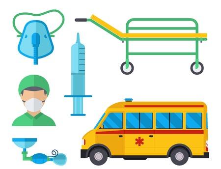Ambulance medicine health emergency car vector hospital urgent pharmacy medical support paramedic treatment illustration Stock Vector - 91008541