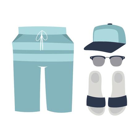 ビーチ海バカンス ライフ スタイル女性コレクション海光美容ながら服イラストのビーチウェア ビキニ ベクトル布ファッションに見えます。