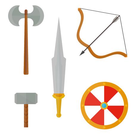 Knights symbols vector illustration.