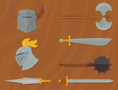 Ridders symbolen vector illustratie. Stock Illustratie