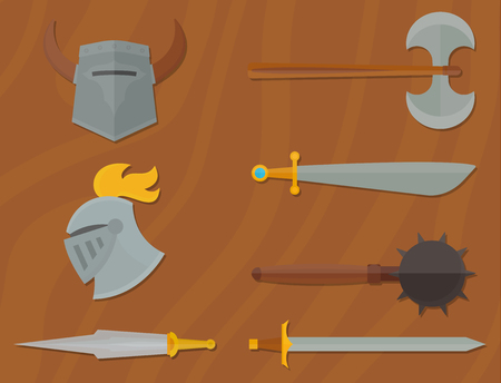 Knights symbols vector illustration.