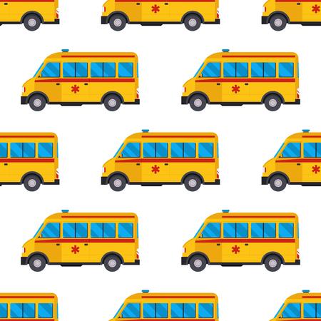 Ambulance medicine emergency car illustration. Ilustracja