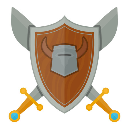 Knights shield vector illustration.