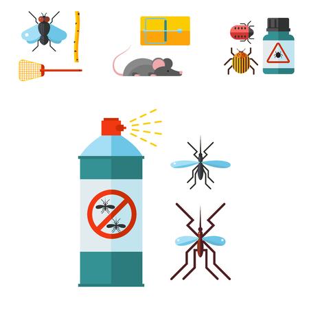 Illustrazione di vettore di controllo dei parassiti domestici. Archivio Fotografico - 91511925