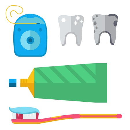 Dentist and medical tools icons