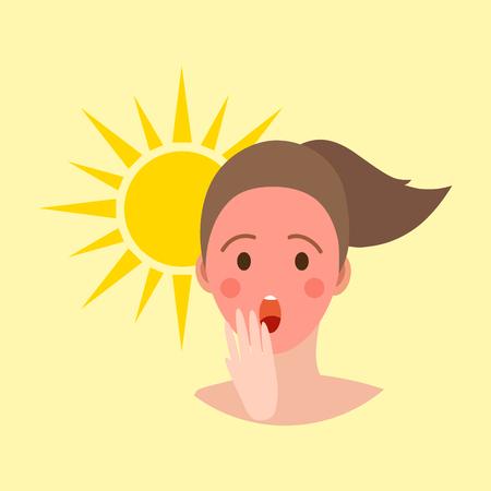 日焼け女性の人間のアバター
