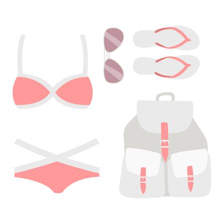 Beachwear bikini vector