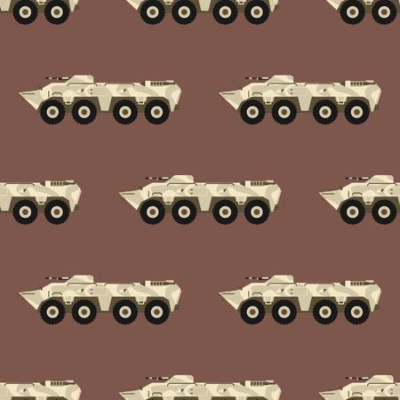 Militaire transport vectorillustratie.