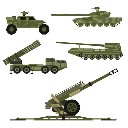 ●軍運技術軍戦戦車産業技術装甲システム装甲システム装甲兵員軍迷彩キャリア武器ベクトルイラスト。武装輸送との戦い。