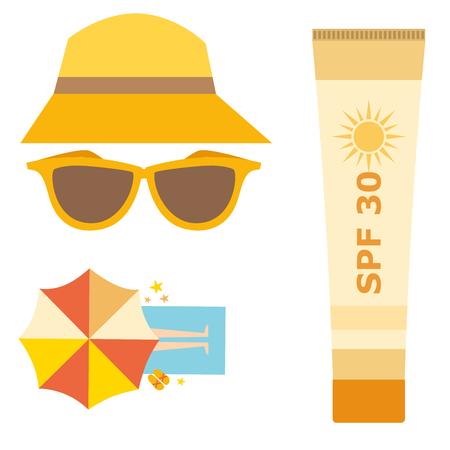 Cream sunscreen bottle vector icon sunblock cosmetic summer container tube panti-sun cream ackaging design.