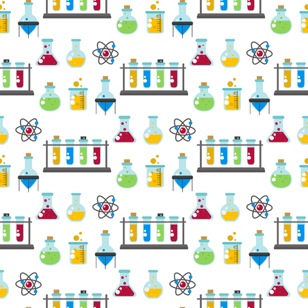 Chemical laboratory background vector illustration.