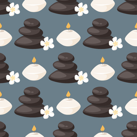 Candle vector aroma fire burn decoration seamless pattern background burning warm glowing spa shiny wax bright spirituality relaxation illustration.