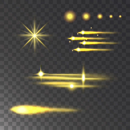 Glowing vector lights effect and stars effect glow blur stars glowing isolated on dark transparent background illustration. Abstract glow blur stars design flare glitter. Reklamní fotografie - 91584081