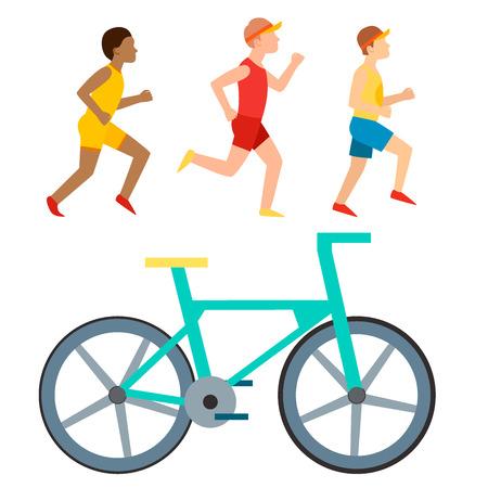 Atletische run illustratie.