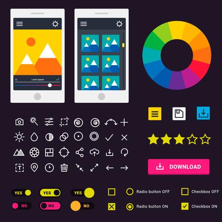 User interface illustration. Ilustrace