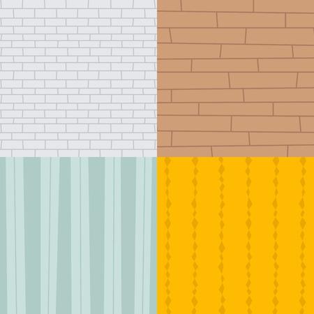 Patchwork textile brick texture seamless clothes pattern background tile decorative ornament design vector illustration.