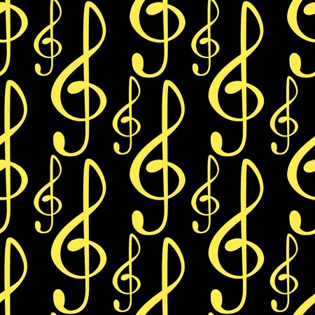 Notes music melody colorfull musician symbols sound melody text writting audio symphony seamless pattern background vector illustration.