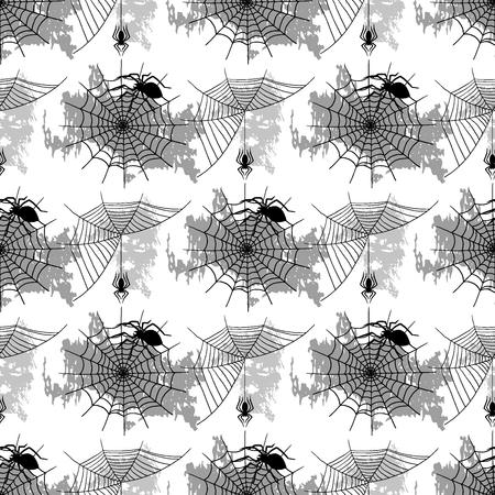 ベクトルクモのウェブシルエット不気味な自然ハロウィーン要素ベクトルクモの巣飾り恐怖不気味なネット。危険ホラートラップクモの巣の装飾シ