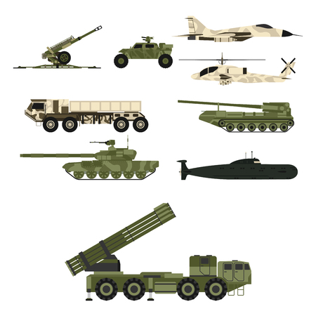 Military army transport technic vector war tanks industry technic armor system armored army personnel camouflage carriers weapon illustration. Çizim