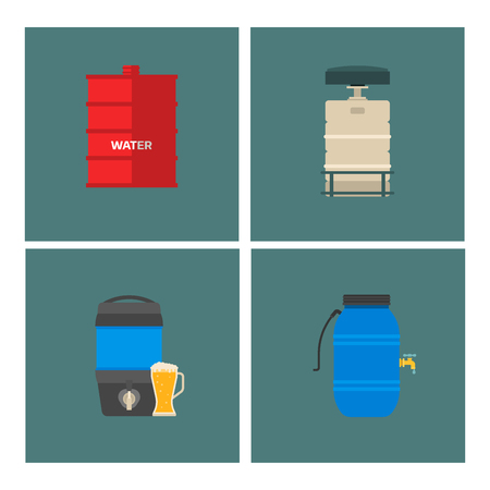 Lo stoccaggio del barile del combustibile del contenitore di tamburi di petrolio rema l'illustrazione chimica di vettore delle navi chimiche dei serbatoi di capacità dei carri armati naturali di capienza del metallo Archivio Fotografico - 91661751