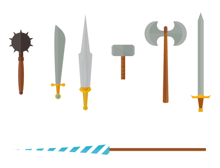 Knight weapons icon. Illustration
