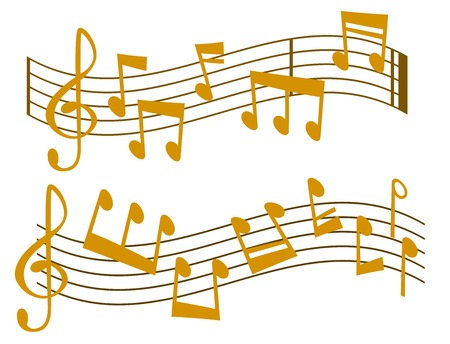 Notes music vector melody colorfull musician symbols sound notes melody text writting audio musician symphony illustration Vettoriali