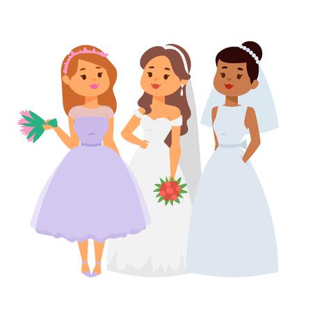 Hochzeit Bräute Füße Vektor-Illustration Feier Ehe Mode Mode Mädchen Herz weiß Kleid aufwachen Kleid Standard-Bild - 93947992