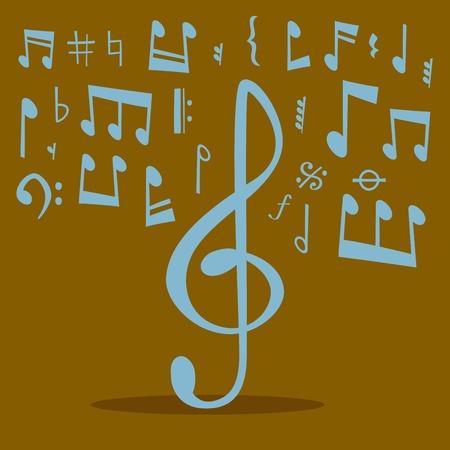 Musical notes pattern design Vector Illustration