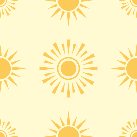 Yellow sun planet seamless pattern background star vector illustration Illustration
