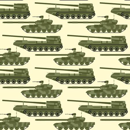 Oorlogstanks naadloze patroon vectorillustratie als achtergrond.