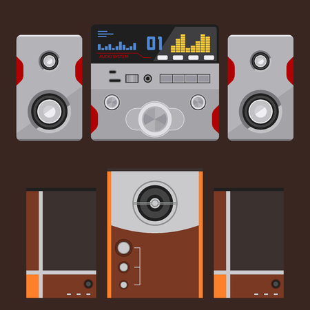 Acoustic sound system stereo equipment technology Illustration