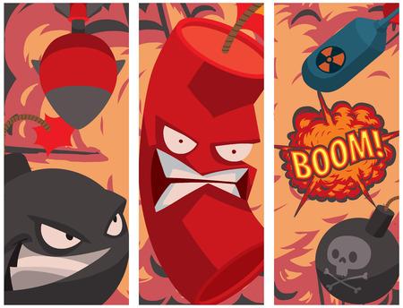 Bomb dynamite vector illustration Ilustração
