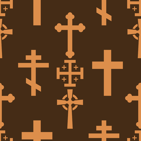 Christianity church cross seamless pattern background