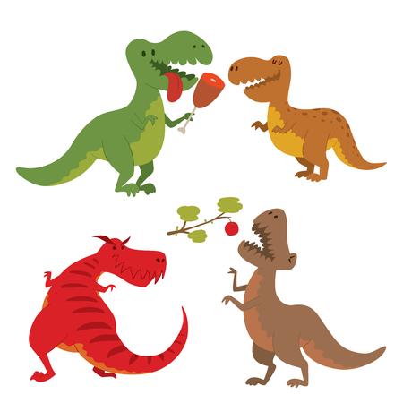 공룡 벡터 디노 동물 티라노사우루스 t-rex 위험 생물 힘 야생 쥬라기 육식 동물 선사 시대 멸종 그림. 스톡 콘텐츠 - 95972860