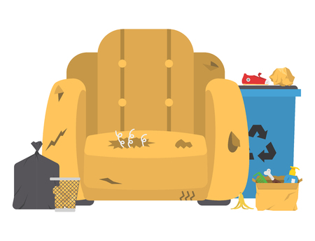 Recycling garbage vector illustration.  イラスト・ベクター素材