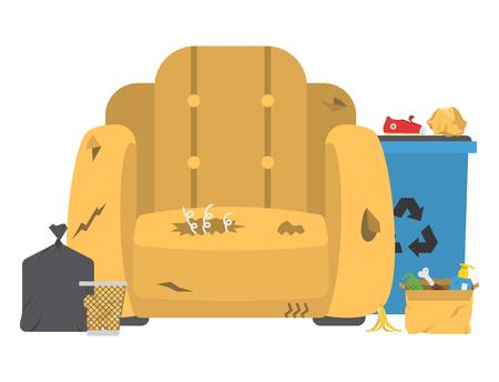 Recycling garbage vector illustration. 일러스트