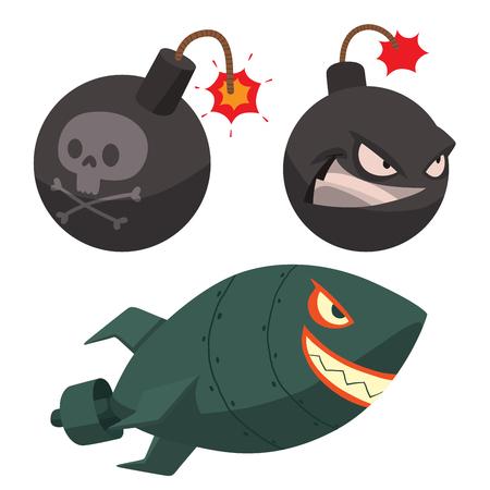 Bomb dynamite fuse vector illustration