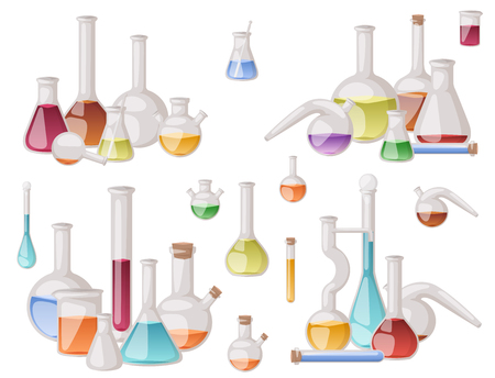 Chemical flask laboratory vector lab glassware tube liquid biotechnology analysis tubes medical scientific equipment.