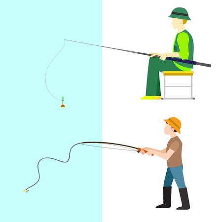 Fishermen vector  illustration