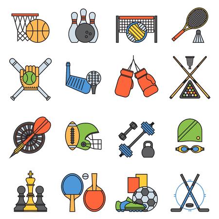 Sport icons seamless pattern background Illustration