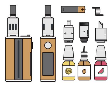 Vape device vector set Иллюстрация