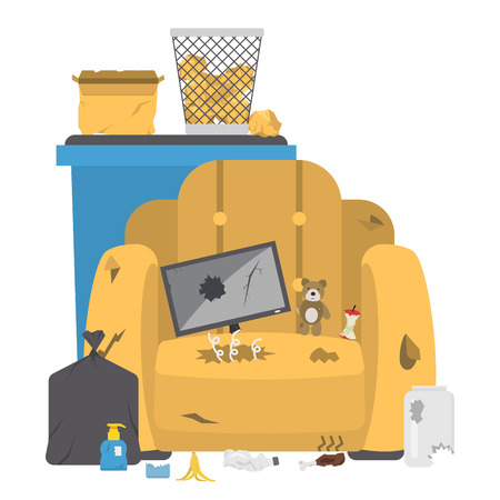 Recycling garbage vector illustration. Vectores