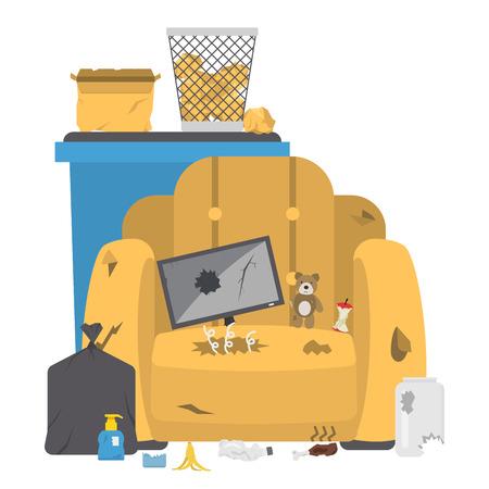 Recycling garbage vector illustration. Stock Illustratie