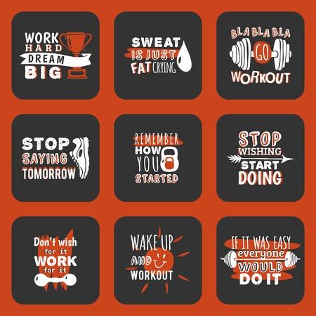 Sport motivational logo vector design