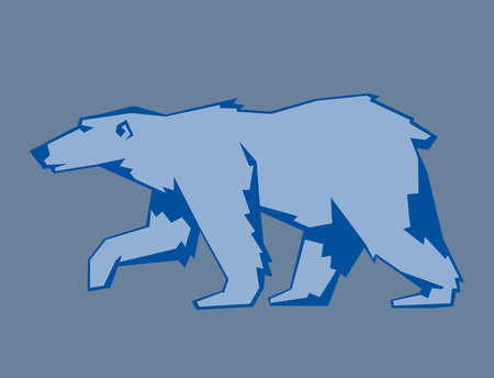 Polar Bear character illustration.