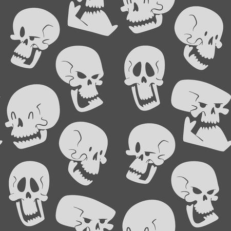 Skull bones seamless pattern background. Stock Vector - 96294294