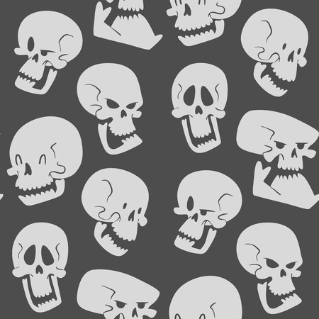Skull bones seamless pattern background. Illustration